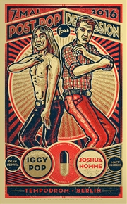 Iggy Pop Concert Poster by Lars P Krause
