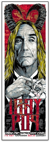 Iggy Pop Concert Poster by Rhys Cooper