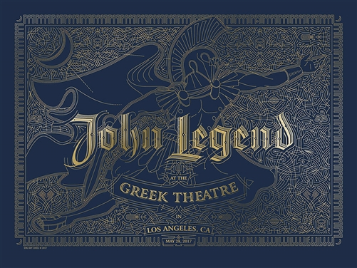 John Legend Concert Poster by Dig My Chili
