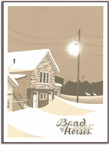 Band Of Horses Concert Poster by Justin Santora