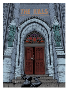 The Kills Concert Poster by Pat Hamou
