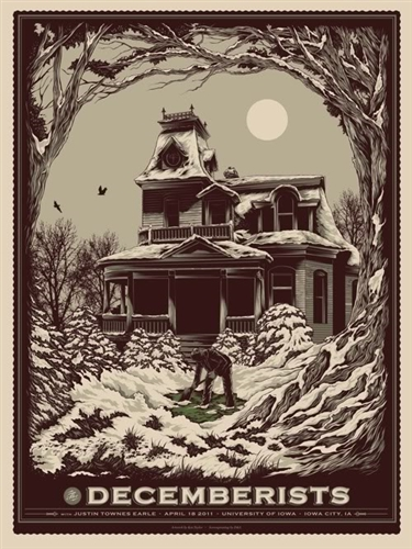 The Decemberists Concert Poster by Ken Taylor