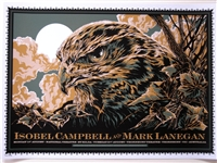 Mark Lanegan & Isobel Campbel Concert Poster by Ken Taylor
