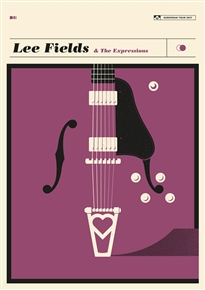 Lee Fields Concert Poster by Simon Marchner