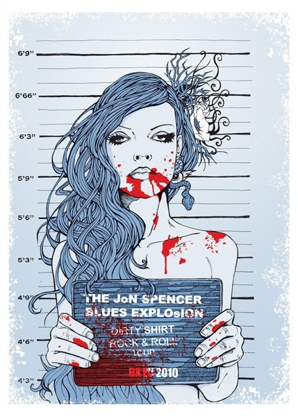 Jon Spencer Blues Explosion Concert Poster by Malleus