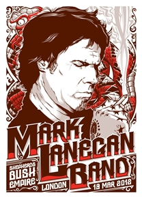 Mark Lanegan London Concert Poster
