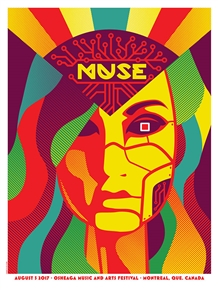 Muse Concert Poster by Dan Stiles