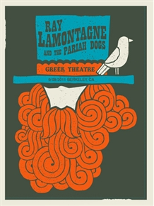 Ray Lamontagne Concert Poster by Methane Studios