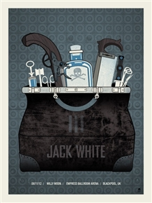 Jack White Concert Poster by Methane Studios