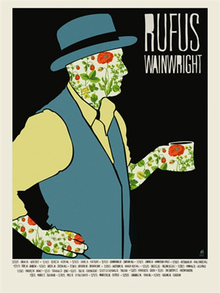 Rufus Wainwright Concert Poster by Methane Studios