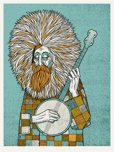 The Banjo Man Art Print by Methane Studios