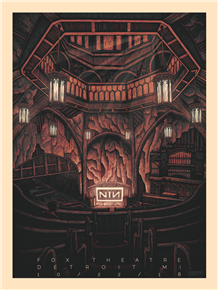Nine Inch Nails Concert Poster by Luke Martin