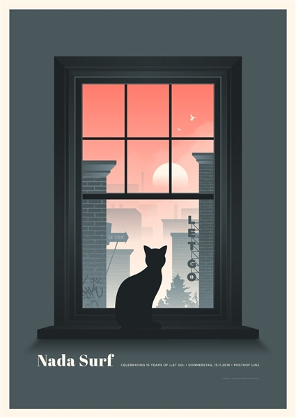Nada Surf Concert Poster by Simon Marchner