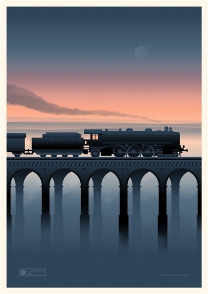Night Train Art Print by Simon Marchner