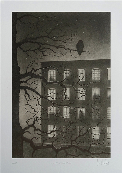 Night Watchman Art Print by Dave Hartley