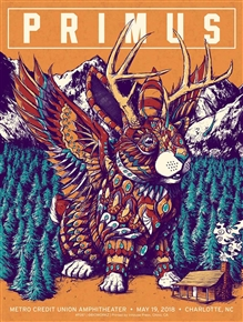 Primus Concert Poster by Bioworkz