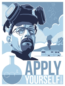 'Apply Yourself' Breaking Bad Poster