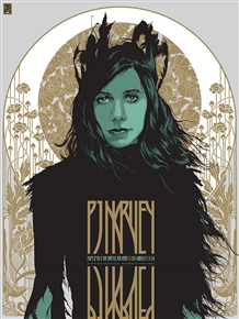 PJ Harvey Los Angeles concert poster by Ken Taylor