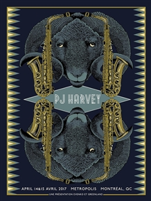 PJ Harvey Concert Poster by Pat Hamou