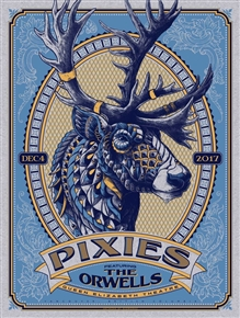 Pixies Concert Poster by Bioworkz