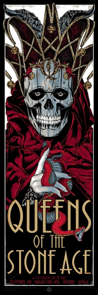 Queens Of The Stone Age concert Poster by Rhys Cooper