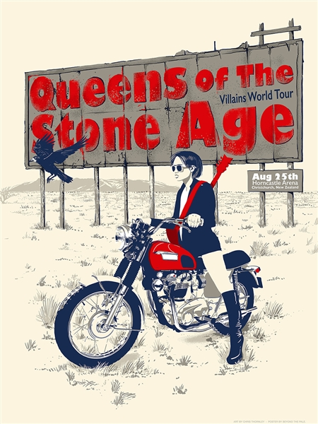 Queens Of The Stone Age Concert Poster by Chris Thornley