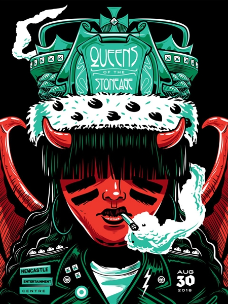 Queens Of The Stone Age Concert Poster by Travis Price