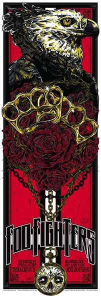 Foo Fighters Melbourne Concert Poster by Rhys Cooper