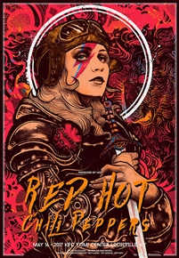 Red Hot Chili Pepper concert poster by Nikita Kaun