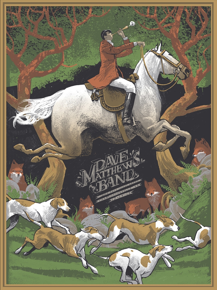 Dave Matthews Band Concert Poster By Rich Kelly