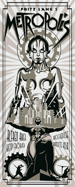 Metropolis Movie Poster (Silver) by Rodolfo Reyes