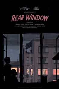 Rear Window movie poster by Katherine Lam