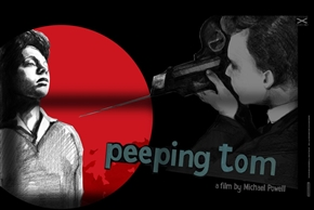 Peeping Tom Poster by Swava Harasymowicz Small Red