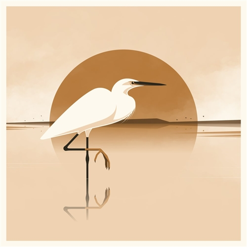 Silky Heron Art Print by Simon Marchner