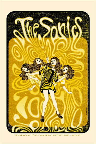 The Sonics Concert Poster by Sabrina Gabrielli