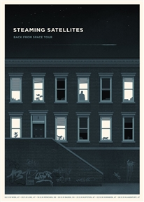 Steaming Satellites Concert Poster by Simon Marchner
