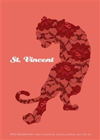 St. Vincent Concert Poster by Methane Studios