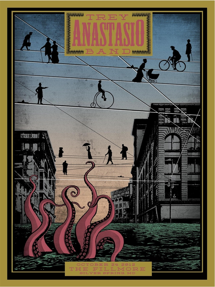 Nada Surf July 2012 Limited Edition Gig Poster