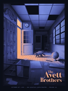 The Avett Brothers Concert Poster by Nicholas Moegly