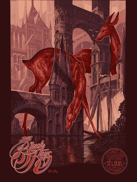 The Black Keys concert poster by Calvin Laituri