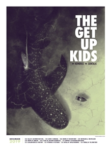 The Get Up Kids concert poster by Housebear design