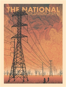 The National Concert Poster by Luke Martin