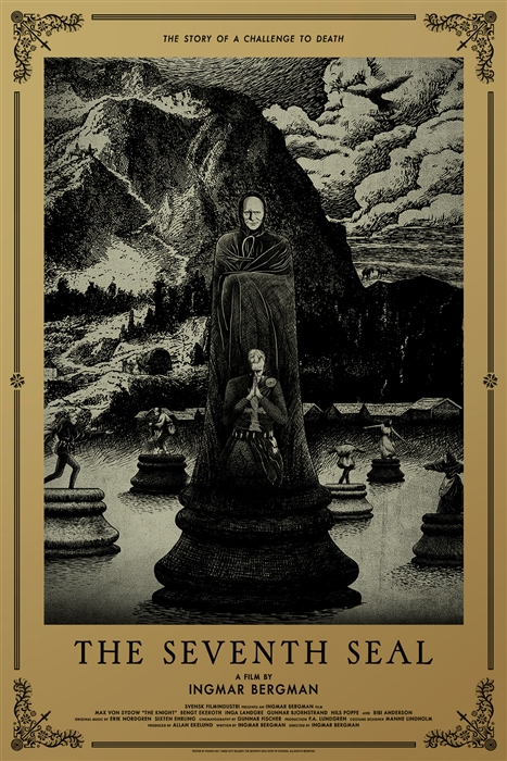The Seventh Seal movie poster by Huang Hai
