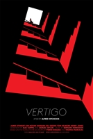 Vertigo movie poster by Malika Favre