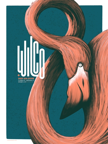 Wilco concert poster by Housebear design