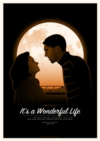 It's a Wonderful Life movie poster by Simon Marchner