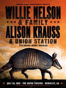 Willie Nelson Concert Poster by Zeb Love
