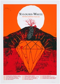 Xylouris White concert poster by Craig Carry