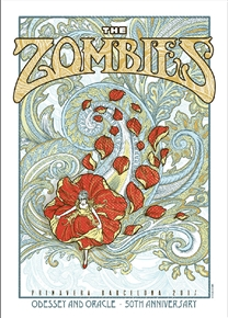 The Zombies Concert Poster by Sabrina Gabrielli