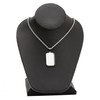 Rectangle Dog Tag Necklace